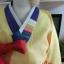 "Hanbok เกรด A+++ ผ้าไหมเกาหลี สีส้มสดใส อก 38"" สูง 165 cm thumbnail 4"