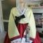 """Hanbok ฮันบก พรีเมี่ยมต่อปลายแขน สีขาวแดง อก 40"""" สูง 161cm. thumbnail 2"""