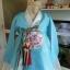 Royal Hanbok ฮันบกชาววัง ไหมเกาหลีสีฟ้าขาว สวยหรู thumbnail 2