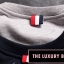 THOM BROWNE SWEATER NAVY BLUE AND GRAY thumbnail 4