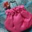 Korean hanbok handbag กระเป๋าถือฮันบกสีชมพู ผ้าไหม thumbnail 1