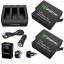 Smatree Charger 3 Channelพร้อมแบตเตอรี่ 1220mAh จำนวน 2 ก้อน สำหรับกล้อง GoPro Hero 5 Black ชุดใหญ่แบบเซ็ท ราคาถูก thumbnail 1
