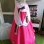 Hanbok เกรด A+++ ผ้าไหมเกาหลี รุ่น Pink Je t'aime#02 โบว์สองสี size M. thumbnail 1