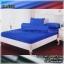 ผ้าปูที่นอนสีพื้น (สีน้ำเงิน)(พื้นเรียบ) ขนาด 5 ฟุต 5 ชิ้น thumbnail 1
