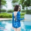 [Free size] ชุดว่ายน้ำวันพีชแขนยาว รุ่น Kanya สีน้ำเงินลายกราฟิก thumbnail 2