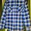 ้เสื้อเชิ๊ตลายสก๊อตสีฟ้า - น้ำตาล ราคา 150 บาท thumbnail 2