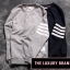 THOM BROWNE SWEATER NAVY BLUE AND GRAY thumbnail 1