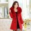 CW5908003 เสื้อโค้ทเกาหลี2016 กันหนาว ผ้าขนสัตว์ แต่งเฟอร์ขน อบอุ่นมาก(พรีออเดอร์) รอ 3 อาทิตย์หลังโอนเงิน สำเนา thumbnail 3