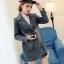 FW6008015 เสื้อแจ็กเก็ตยีนส์ผู้หญิงเกาหลีคอปกสูทตัวสั้นแขนยาว แฟชั่นเกาหลี (พรีออเดอร์) thumbnail 2