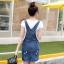 BW6005001 เอี้ยมกระโปรงยีนส์ ขาสั้น คาบอย แฟชั่นเกาหลี (พรีออเดอร์) รอสินค้า 3 อาทิตย์หลังโอนเงิน thumbnail 4