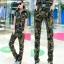 HW5906011 กางเกงทหารหญิงทรงหลวมสีเขียวกองทัพลายพราง (พรีออเดอร์) รอ 3 อาทิตย์หลังโอนเงิน thumbnail 4