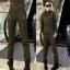 HW5906010 กางเกงทหารหญิงทรงหลวมสีเขียวกองทัพ (พรีออเดอร์) รอ 3 อาทิตย์หลังโอนเงิน thumbnail 1