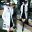 CW5711007 เสื้อโค้ทเกาหลี มีฮูด ซิปหน้า ผ้าผสมขนสัตว์ อบอุ่นมาก (พรีออเดอร์) รอ 3 อาทิตย์หลังโอนเงิน thumbnail 3