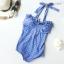 (Size S,M) ชุดว่ายน้ำ วันพีช ชุดลายจุดดาวสีฟ้า thumbnail 1
