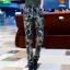 HW5906012 กางเกงทหารหญิงทรงหลวมสีเขียวกองทัพลายพราง (พรีออเดอร์) รอ 3 อาทิตย์หลังโอนเงิน thumbnail 3