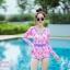 [Free size] ชุดว่ายน้ำวันพีชแขนยาว รุ่น Kanya สีชมพูลายโบว์ thumbnail 2