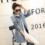 FW6008001 เสื้อแจ็กเก็ตยีนส์แขนยาวแต่งหมุดแขนจีบเกาหลี (พรีออเดอร์) รอ 3 อาทิตย์หลังโอนเงิน thumbnail 3