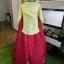 Princess Hanbok แบบชาววัง (ทังอี) สีเหลืองปั๊มเงิน กระโปรงปักมือดิ้นเงิน thumbnail 8