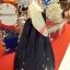 Hanbok เกรดพรีเมี่ยม แบบต่อปลายแขน ลายปักดอกไม้น่ารัก กระโปรงปักมือ thumbnail 6