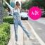OW6002001เอี้ยมกางเกงยีนส์ขายาวผู้หญิงเกาหลี (พรีออเดอร์) รอสินค้า 3 อาทิตย์หลังโอนเงิน thumbnail 2