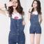 OW5711003 เอี้ยมยีนส์สาวเกาหลี คาบอยน่ารัก (พรีออเดอร์) รอสินค้า 3 อาทิตย์หลังโอนเงิน thumbnail 1