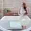 [Size S,M] Daisy set (สีขาว) ชุดว่ายน้ำ ทูพีทแนววินเทจ thumbnail 1