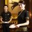 F6008003 เครื่องแบบชุดฟอร์มพนักงานร้านอาหารกาแฟโรงแรม แขนสั้นผ้าฝ้ายคอจีน (พรีออเดอร์) รอสินค้า 3 อาทิตย์หลังโอน thumbnail 2