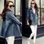 FW6009011 เสื้อคลุมแจ็กเก็ตยีนส์ตัวยาวคอปกเสื้อกันหนาวสาวเกาหลี (พรีออเดอร์) รอ 3 อาทิตย์หลังโอนเงิน thumbnail 1