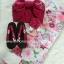 Summer kimono กิโมโนฤดูร้อน (Yukata) Spring Flower สีชมพู รุ่น 1 เซต 6 ชิ้น thumbnail 3