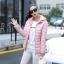 CW5911002 เสื้อโค้ทหญิงตัวสั้นมีฮูดซิปหน้าผ้าขนเป็ดกันหิ(พรีมะออเดอร์) รอ 3 อาทิตย์หลังโอนเงิน thumbnail 3