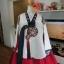 """Royal Hanbok แบบชาววัง (ทังอี) สีขาวครีม กระโปรงสีแดงปักมือ อก 38"""" thumbnail 2"""