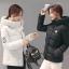 CW5911001 เสื้อโค้ทแจ๊กเก็ตผู้หญิงมีฮูดซิปหน้าตัวสั้นๆ(พรีออเดอร์) รอ 3 อาทิตย์หลังโอนเงิน thumbnail 1
