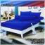 ผ้าปูที่นอนสีพื้น (สีน้ำเงินเข้ม)(พื้นเรียบ) ขนาด 5 ฟุต 5 ชิ้น thumbnail 1