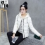 CW5909017 เสื้อโค้ทผู้หญิงหวานเกาหลีตัวสั้นสไตร์เสื้อแจ๊กเก็ต(พรีออเดอร์) รอ 3 อาทิตย์หลังโอนเงิน thumbnail 1
