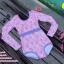[Free size] ชุดว่ายน้ำวันพีชแขนยาว รุ่น Kanya สีชมพูลายโบว์ thumbnail 6