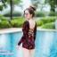 [Free size] ชุดว่ายน้ำวันพีชแขนยาว รุ่น Kanya สีดำลายดอกกุหลาบ thumbnail 5