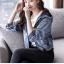 FW6008023 เสื้อแจ็กเก็ตยีนส์เกาหลีแขนยาวมีฮูดคลุมหัว (พรีออเดอร์) รอ3 อาทิตย์หลังโอนเงิน thumbnail 3