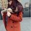 CW809003 เสื้อโค้ทเกาหลี กันหนาว ผ้าขนสัตว์ ปกเชิ้ตตัวยาว (พรีออเดอร์) รอ 3 อาทิตย์หลังโอนเงิน thumbnail 5