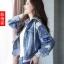 FW6008024 เสื้อแจ็กเก็ตยีนส์เกาหลีตัวสั้นแขนยาวมีฮูดงานคุณภาพพรีเมี่ยมสวยแน่นอน (พรีออเดอร์) รอ3 อาทิตย์หลังโอนเงิน thumbnail 1