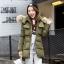 CW5909002 เสื้อโค้ทผู้หญิง ซิปหน้า แต่งเฟอร์ขน เกาหลี(พรีออเดอร์) รอ 3 อาทิตย์หลังโอนเงิน thumbnail 3