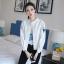 FW6009006 แจ๊กเก็ตสีขาวปักคอจีนแขนยาว (พรีออเดอร์)รอ 3 อาทิตย์หลังชำระเงิน thumbnail 5