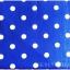 ผ้าปูที่นอนลายจุด เกรด A สีน้ำเงิน ขนาด 6 ฟุต 5 ชิ้น thumbnail 2