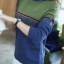 QW6003001 เสื้อคอเต่าไหมถักแฟชั่นเกาหลีพิมพ์ลายวินเทจ thumbnail 2