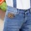 OW5809002 เอี๊ยมกางเกงยีนส์เกาหลี ขา 8 ส่วน ทรงหลวม (พรีออเดอร์) รอ 3 อาทิตย์หลังโอน thumbnail 7