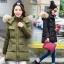 CW5909002 เสื้อโค้ทผู้หญิง ซิปหน้า แต่งเฟอร์ขน เกาหลี(พรีออเดอร์) รอ 3 อาทิตย์หลังโอนเงิน thumbnail 1