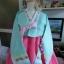 "Silk Hanbok เกรด A ฮันบกผ้าไหมเกาหลี รุ่น Sweet pastel อก 40"" thumbnail 2"