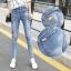 JW5909004 กางเกงยีนส์แฟชั่นเกาหลี ขายาวฮาเร็มของนักเรียน (พรีออเดอร์) รอ 3 อาทิตย์หลังโอนเงิน thumbnail 1