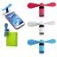 พัดลมมือถือ ชนิดช่องชาร์ต USB และ Micro USB ใช้พลังงานจากมือถือ หรือ PowerBank thumbnail 3