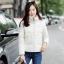 CW5909012 เสื้อโค้ทผู้หญิงหวานเกาหลีตัวสั้น มีอฮูดซิปหน้า(พรีออเดอร์) รอ 3 อาทิตย์หลังโอนเงิน thumbnail 2