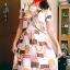 Dress สั้นสไตส์วินเทจ สีแดงลายวินเทจ สวยสีสดใส ราคา 200 บาท thumbnail 1